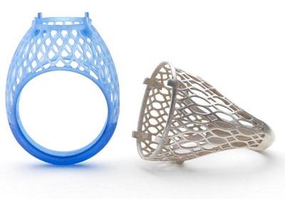 печать украшений на 3Д принтере кольца
