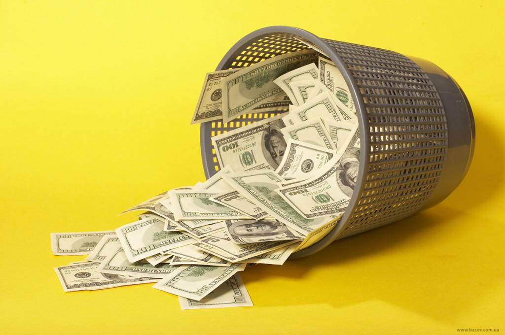 гроші на смітті