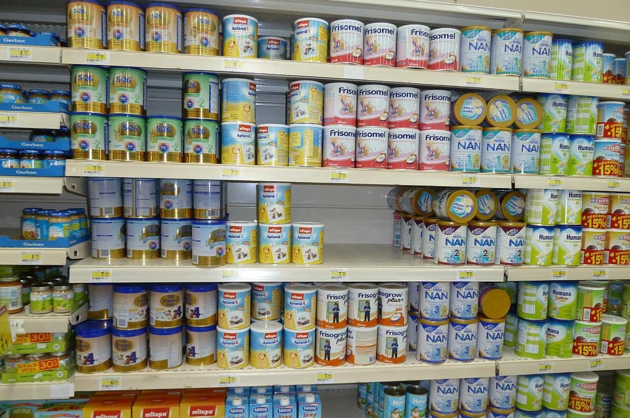 ассортимент товара магазина детского питания