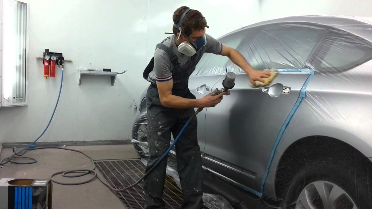 Технология покраски автомобилей своими руками видео