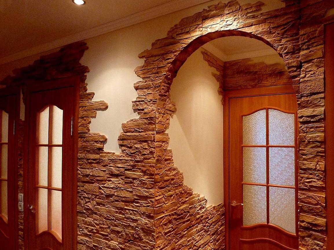 внутрішнє оздоблення рідким каменем