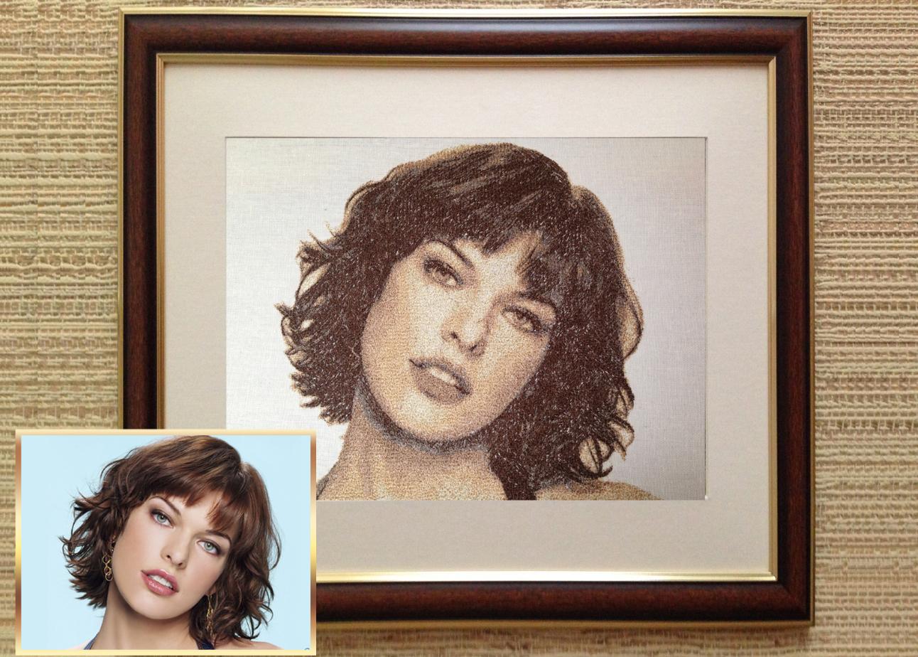 Как организовать бизнес по вышивке портретов на ткани