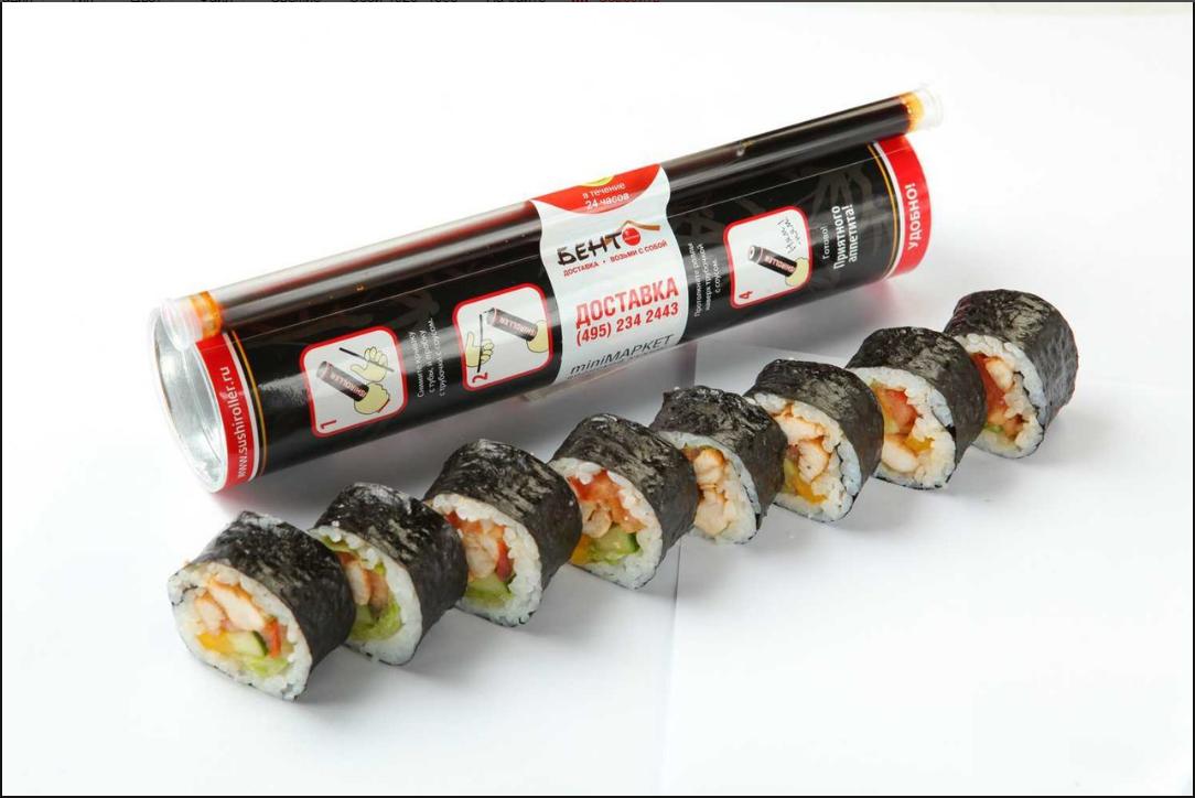 Бизнес-идея продажи суши в тубах