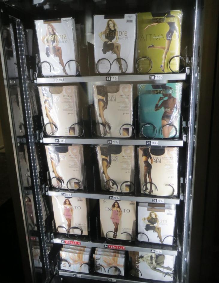 бизнес-идея установки вендингового аппарата по продаже женских колготок