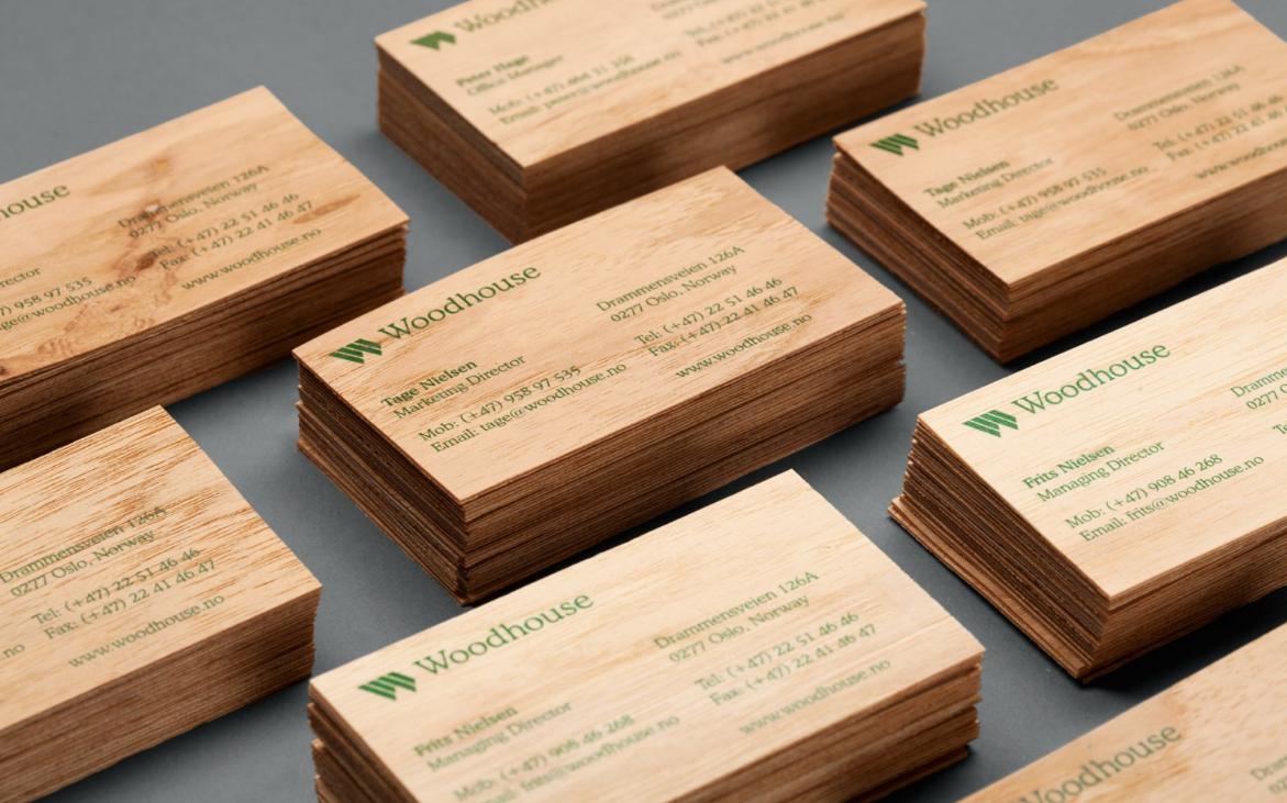 Бизнес-идея изготовления деревянных визиток