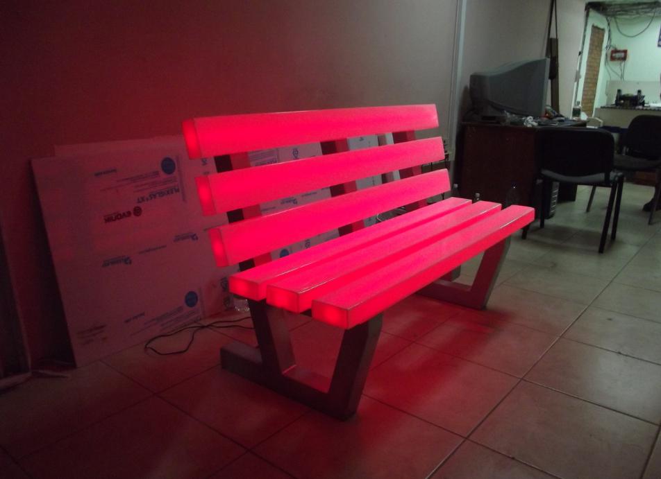 Бизнес-идея производства светящихся скамеек