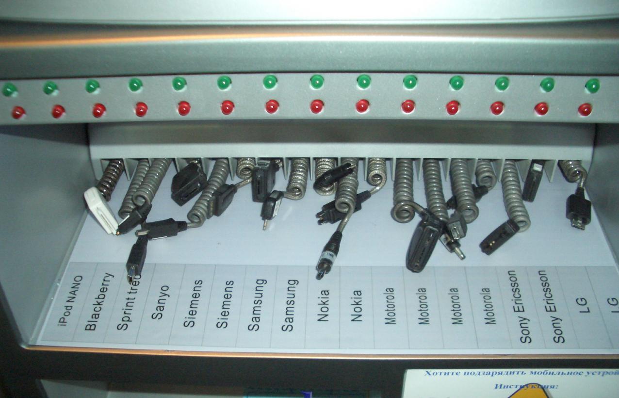 Бизнес-идея автомата для зарядки гаджетов