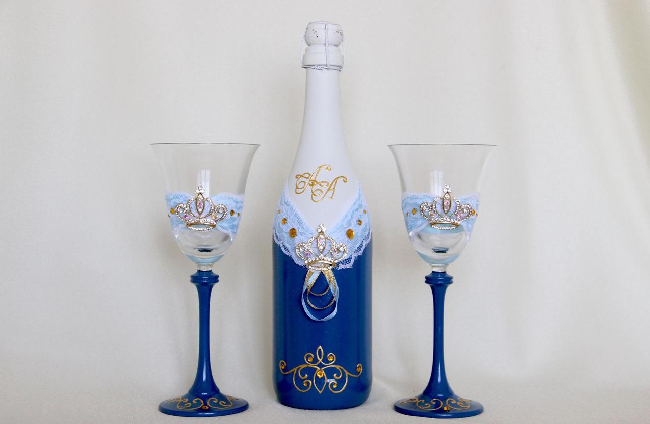 Бизнес-идея декорирования свадебных бокалов
