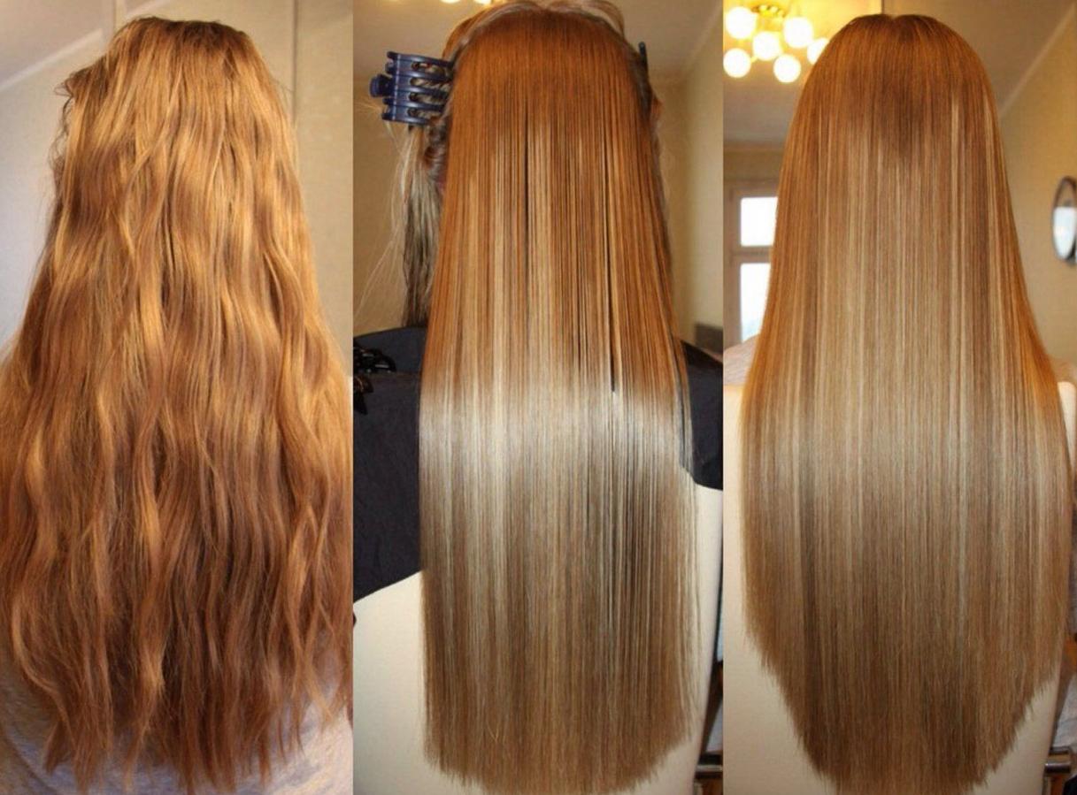Как сделать кератиновое выпрямление волос фото 296