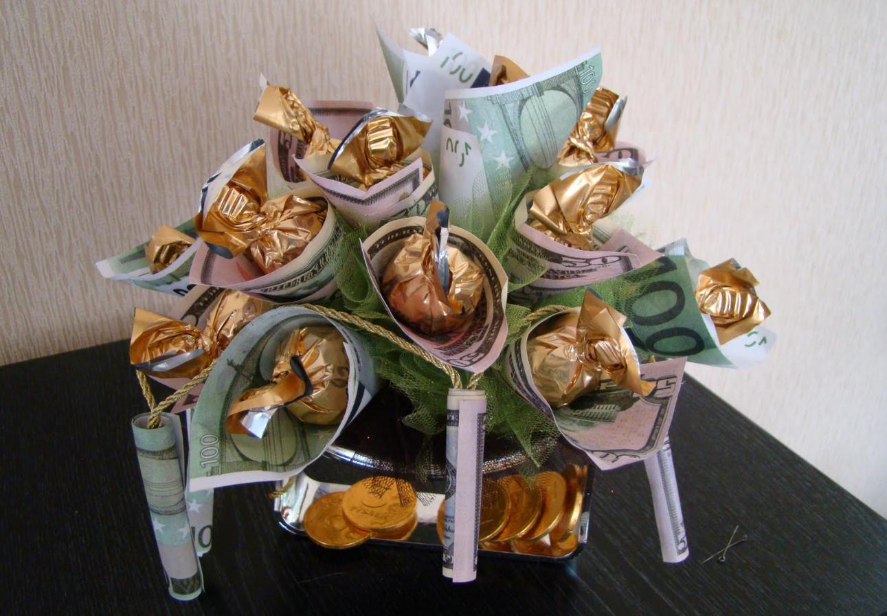 Бизнес-идея делать свадебные букеты из денег